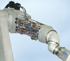 Dosing technology in the robot process arm